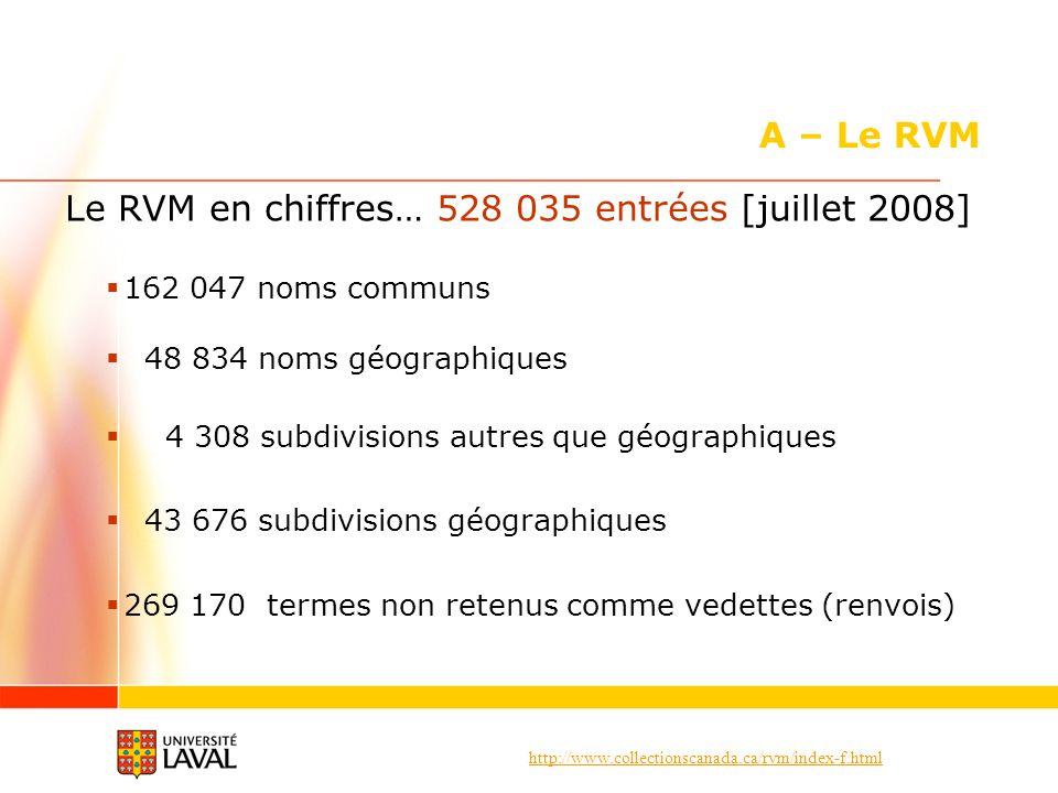 Le RVM en chiffres… 528 035 entrées [juillet 2008]